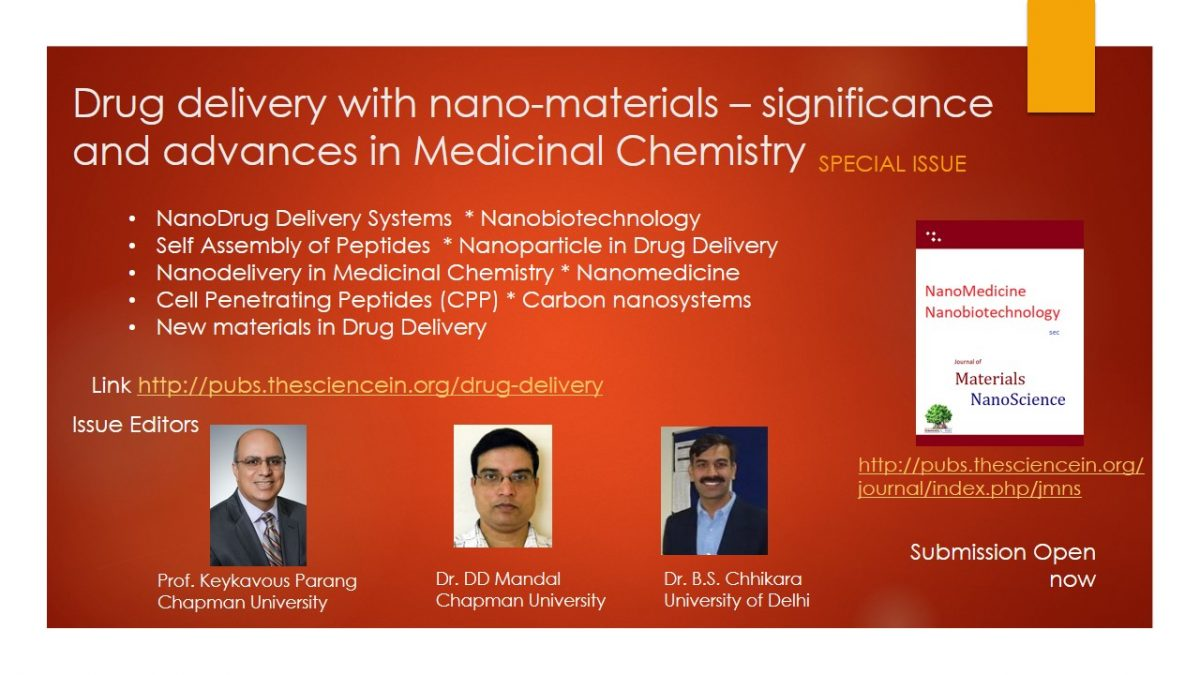 Drug delivery with nano-materials – significance and advances in Medicinal Chemistry